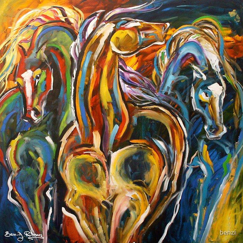 Horses by benzi