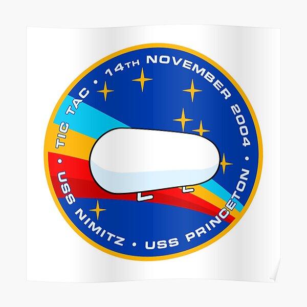 Tic Tac UFO / UAP Encounter Morale Patch Poster