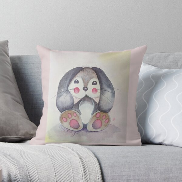 Lil Bunny Throw Pillow