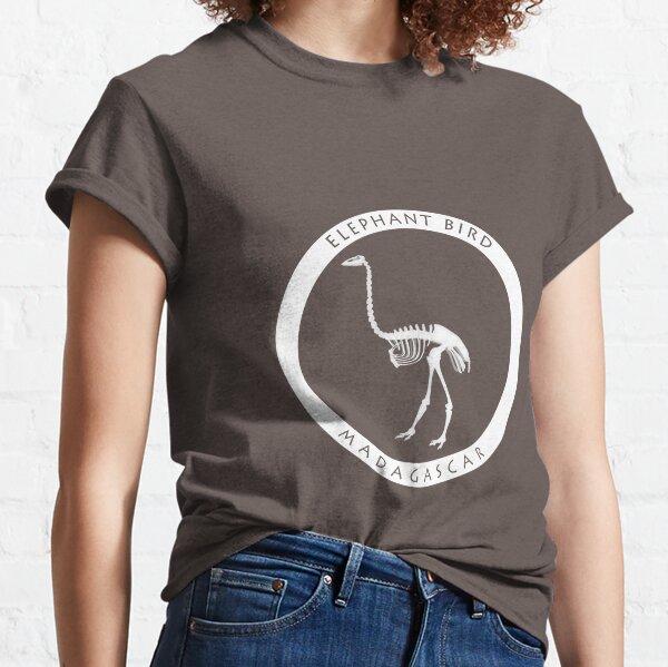 Copy of Elephant bird Madagascar wildlife - black print Classic T-Shirt