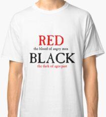 Camiseta clásica Rojo y negro