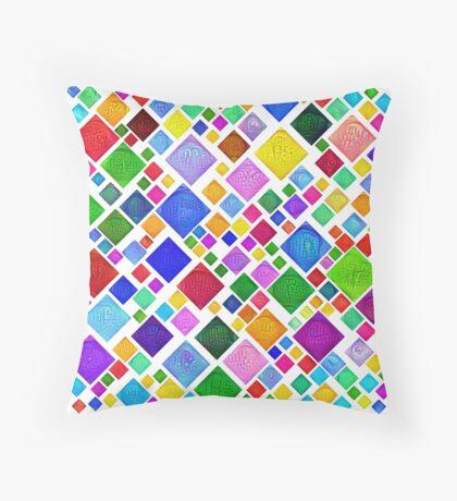 #DeepDream Color Squares Visual Areas 5x5K v1448787318 Transparent background Throw Pillow