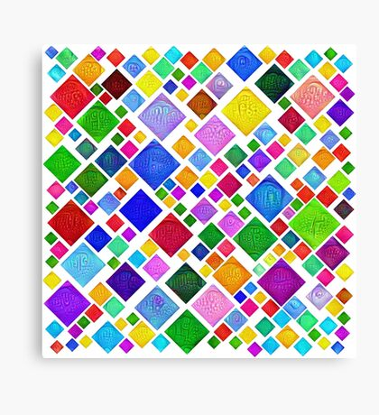 #DeepDream Color Squares Visual Areas 5x5K v1448787318 Transparent background Canvas Print