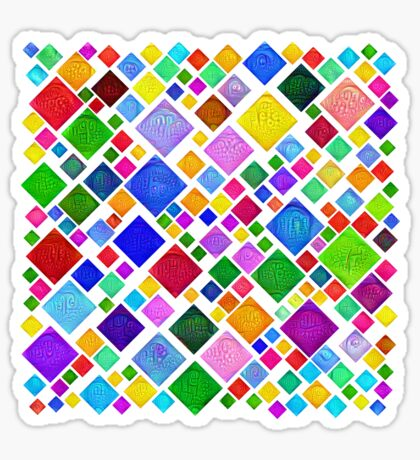 #DeepDream Color Squares Visual Areas 5x5K v1448787318 Transparent background Sticker