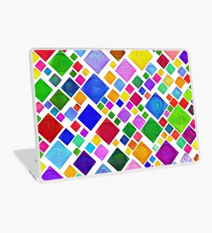 #DeepDream Color Squares Visual Areas 5x5K v1448787318 Transparent background Laptop Skin