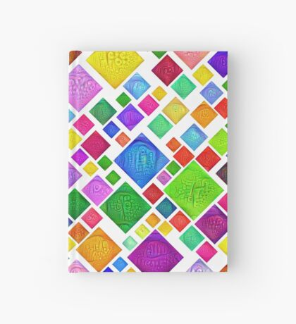 #DeepDream Color Squares Visual Areas 5x5K v1448787318 Transparent background Hardcover Journal