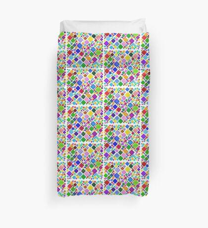 #DeepDream Color Squares Visual Areas 5x5K v1448787318 Transparent background Duvet Cover