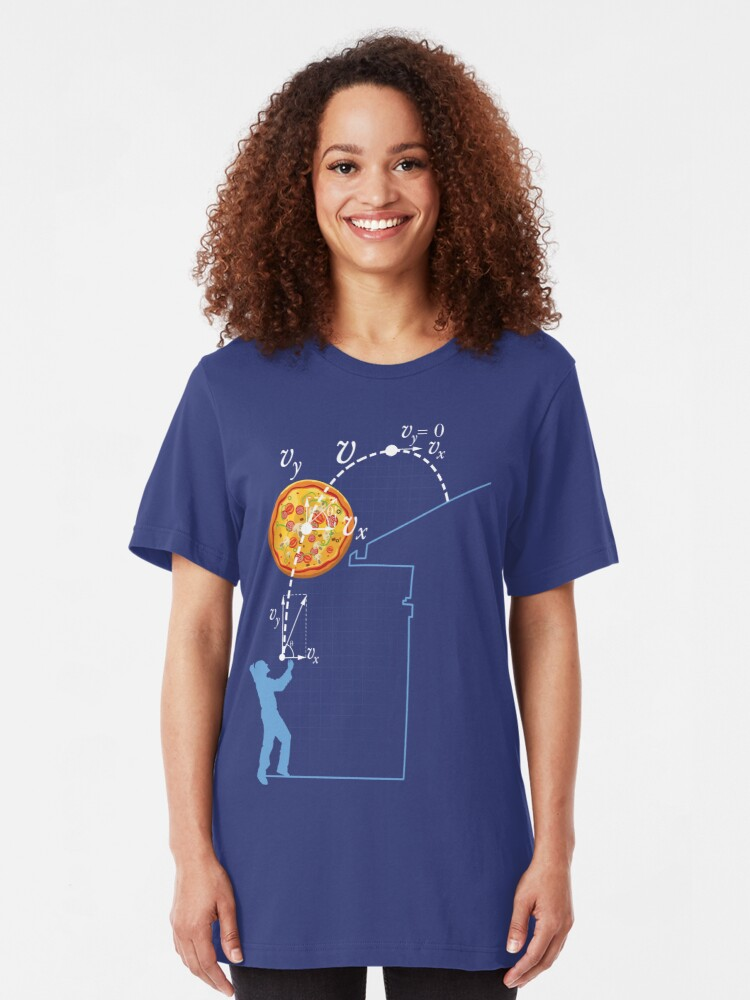 Alternate view of Breaking Bad Pizza Toss Slim Fit T-Shirt