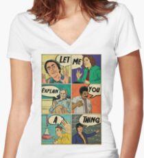 Let me explain Women's Fitted V-Neck T-Shirt