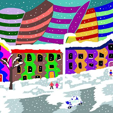 Winter in the colorful city by ArtNaive