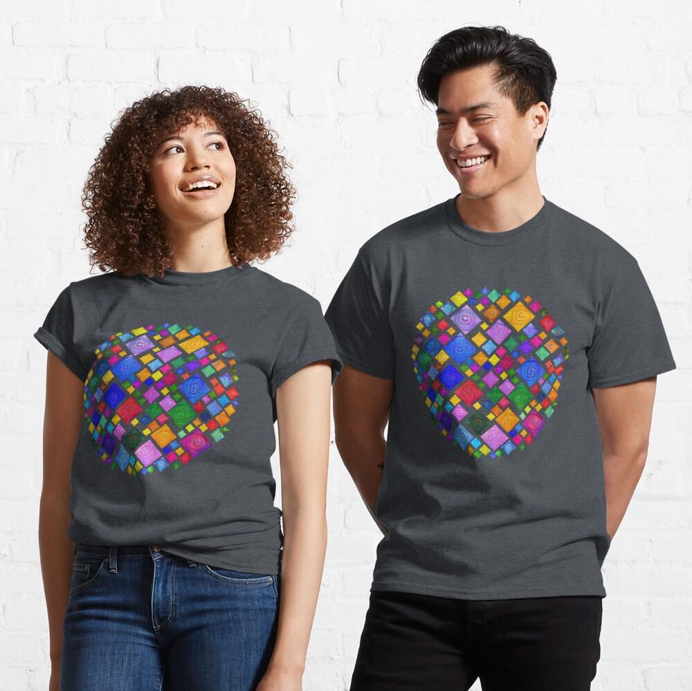 #DeepDream Color Squares Square Visual Areas 5x5K v1448810610 Transparent background Classic T-Shirt
