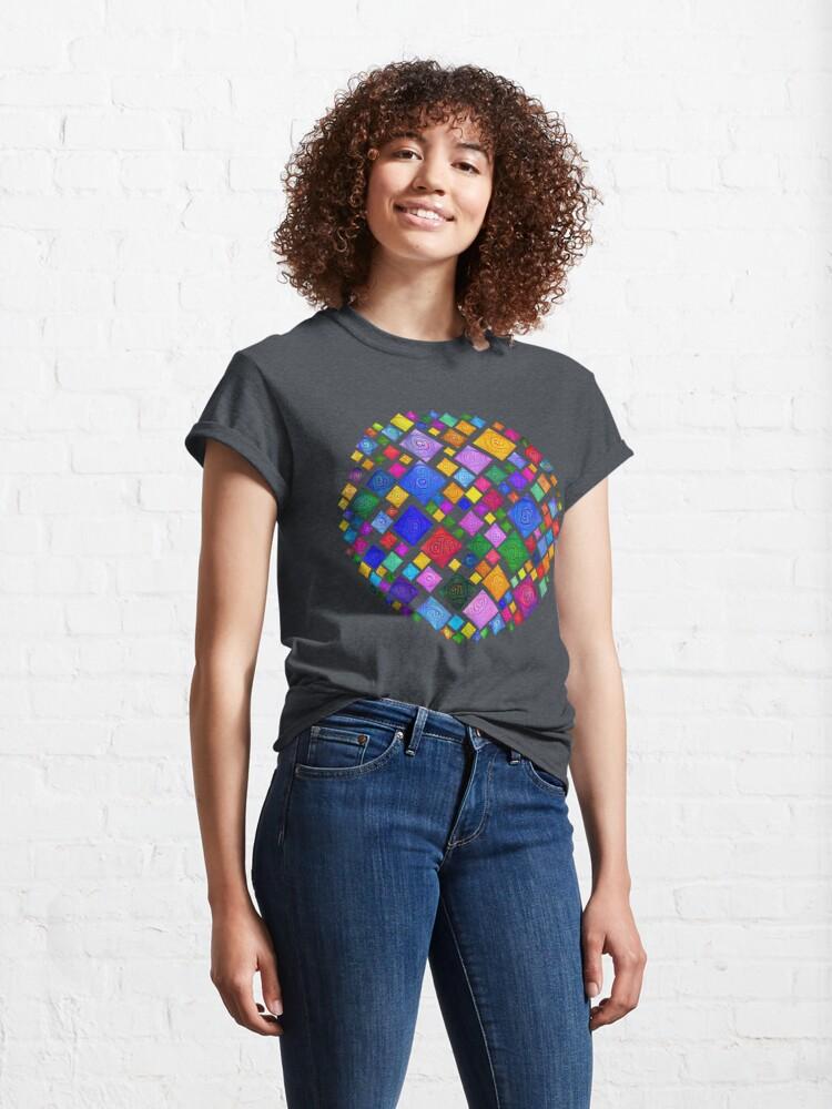 Alternate view of #DeepDream Color Squares Square Visual Areas 5x5K v1448810610 Transparent background Classic T-Shirt