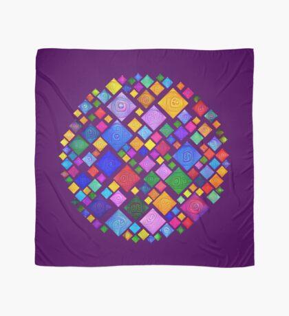 #DeepDream Color Squares Square Visual Areas 5x5K v1448810610 Transparent background Scarf