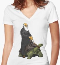 Galapagos Style Women's Fitted V-Neck T-Shirt