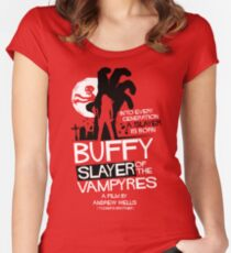 Slayer of the Vampyres Women's Fitted Scoop T-Shirt