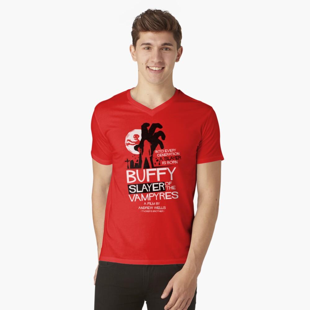 Slayer of the Vampyres Mens V-Neck T-Shirt Front