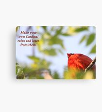 Make your own Cardinal rules and learn from them. Canvas Print