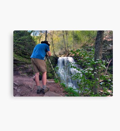 Nature Photographer & Subject Canvas Print