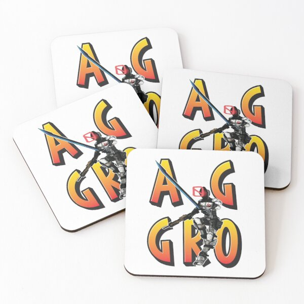 Zer0 The Assassin Borderlands Aggro Aggravation Aggressive Coasters (Set of 4)