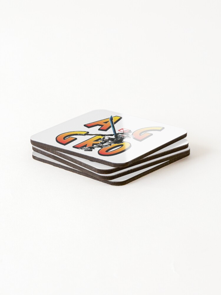 Alternate view of Zer0 The Assassin Borderlands Aggro Aggravation Aggressive Coasters (Set of 4)