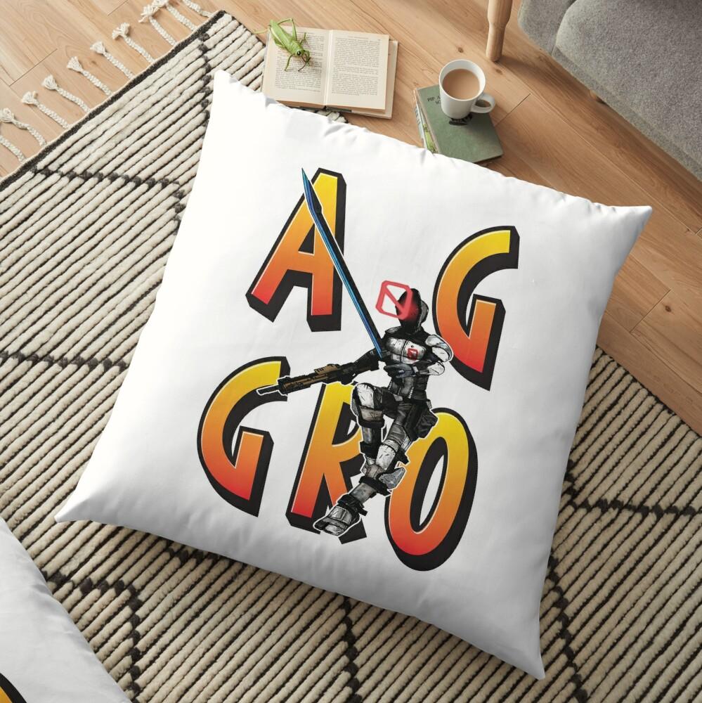 Zer0 The Assassin Borderlands Aggro Aggravation Aggressive Floor Pillow