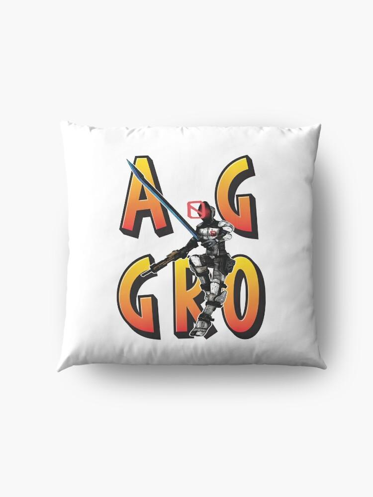 Alternate view of Zer0 The Assassin Borderlands Aggro Aggravation Aggressive Floor Pillow