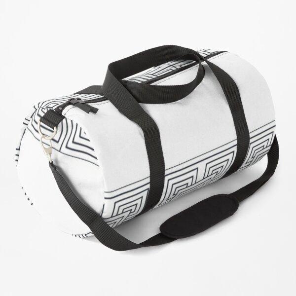 Decoration of minimalist square geometric shapes Duffle Bag