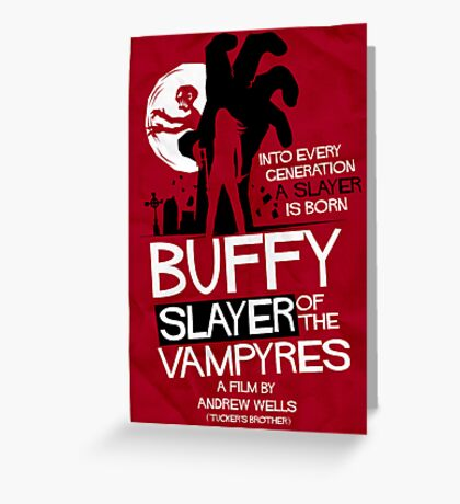 Slayer of the Vampyres Greeting Card