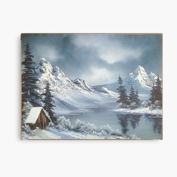 Bob ross Winter In Alaska Painting Metal Print