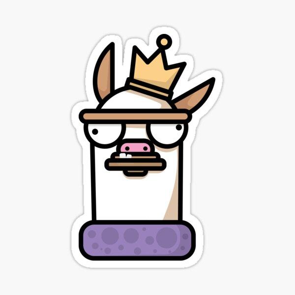Llama King v.2 Sticker