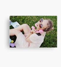 Telephone call Canvas Print
