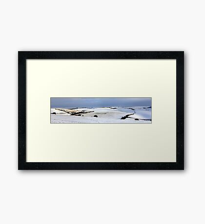 Winter on the Downs Framed Print
