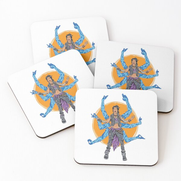 Amara The Siren Borderlands 3 The Tiger of Partali Coasters (Set of 4)