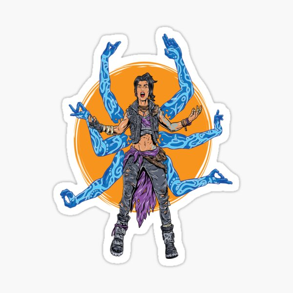 Amara The Siren Borderlands 3 The Tiger of Partali Sticker