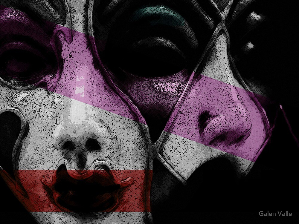 Pair - Venetian Masks   by Galen Valle