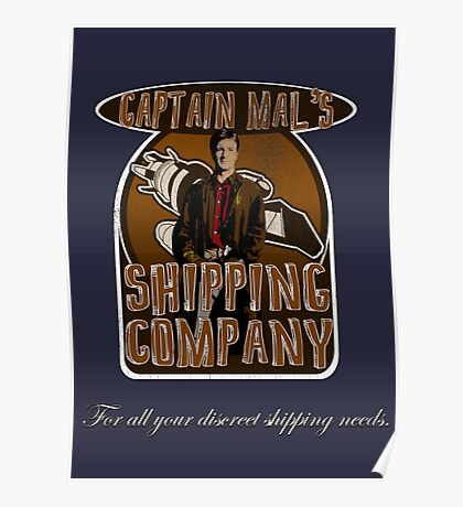 Captain Mal's Shipping Company Poster
