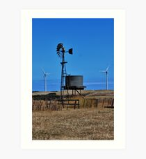 Old & The New - Wind Towers Art Print