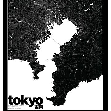 Tokyo Map by timcostello