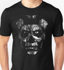 SKULL FACE - distressed white T-Shirt