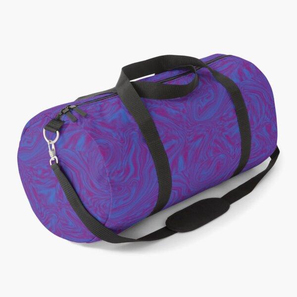 Psychedelic Trippy Purple Marble Liquid Duffle Bag