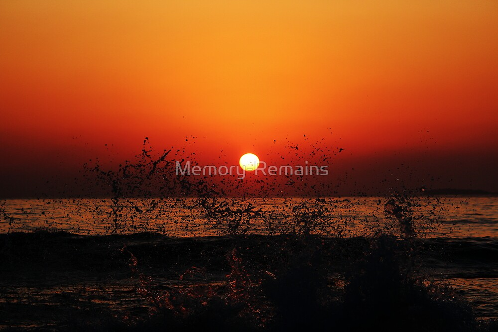 Orange Sunrise Splash by Memory-Remains