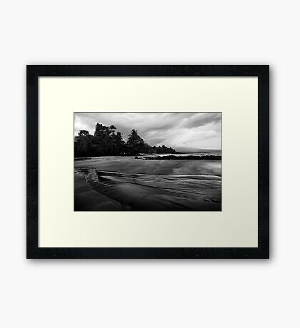 Arena Blanca in Black and White II Framed Print