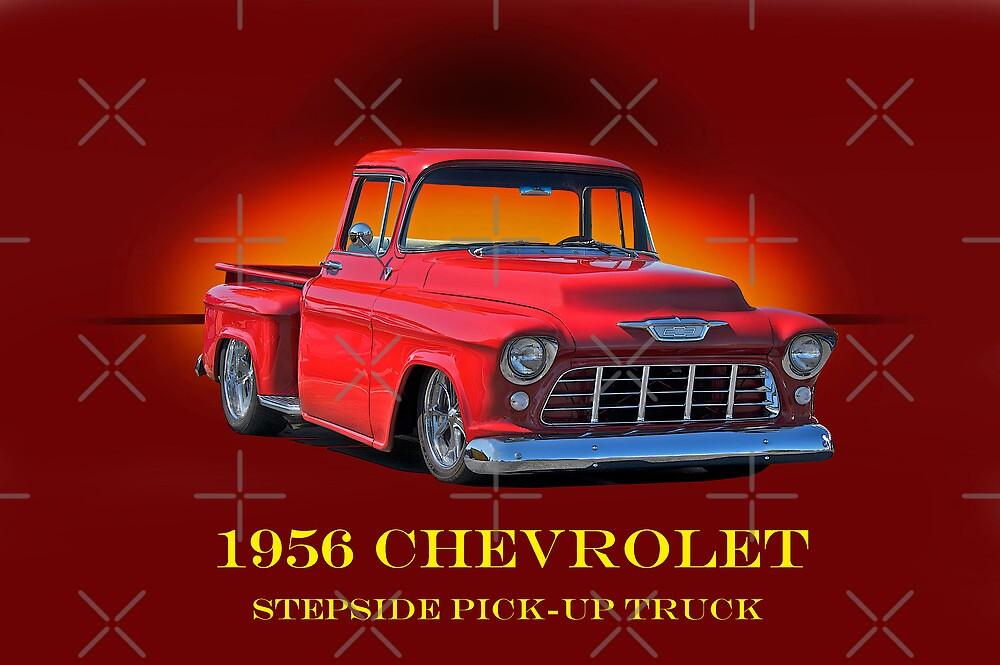 1956 Chevrolet Stepside Pick-Up Truck by DaveKoontz