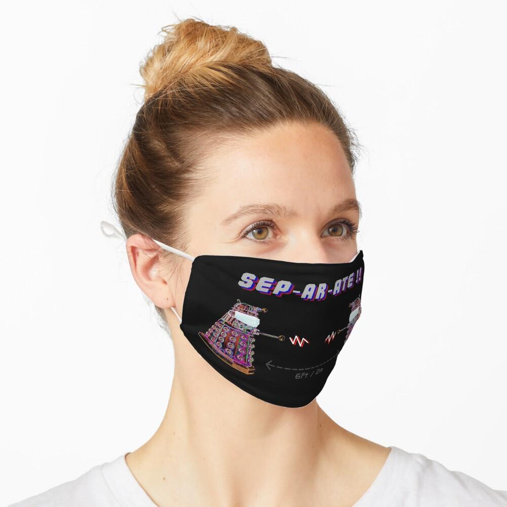 Daleks Separate COVID Coronavirus Design Mask