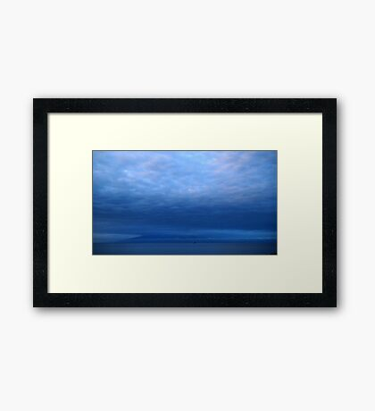 Ship Into the Night Framed Print