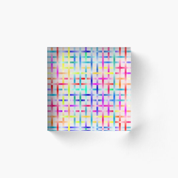 Strips Rainbow Acrylic Block