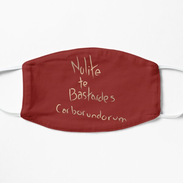 Nolite Te Bastardes Carborundorum - carving Mask