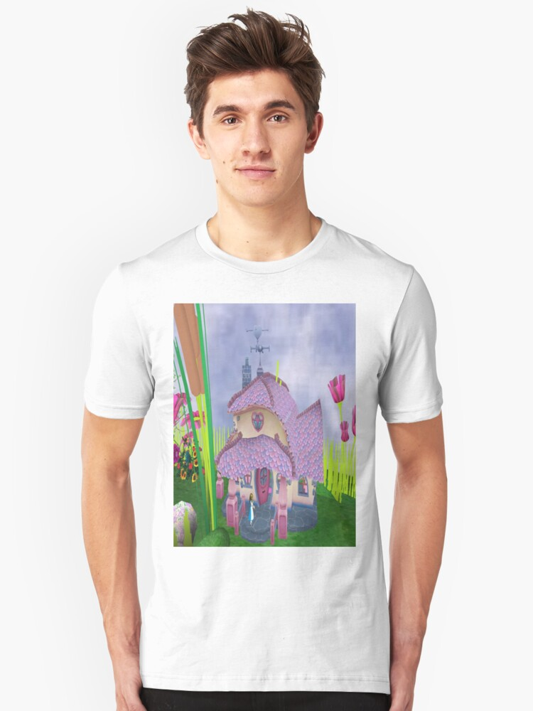 Alice at the white rabbit's house Unisex T-Shirt Front