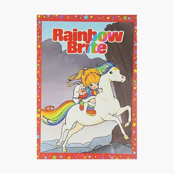 Rainbow Brite & Starlite - 80s cartoon / toy Photographic Print