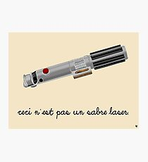 This is Not a Light Saber Photographic Print